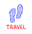 hand draw doodle simple two step travel camp icon vector image vector image