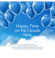 happy time on clouds nine concept banner vector image vector image