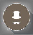 hipster accessories design white icon on vector image
