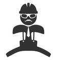 Hipster engineer is jumping pictograph Isolated on vector image vector image