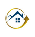 home improvement logo icon stylist house and roof vector image vector image