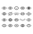 human eye icon set vector image vector image