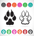 image paw print vector image