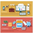 Internet business and payment concept icons vector image vector image