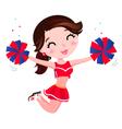 Jumping cheerleader girl vector image vector image