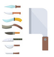 knifes cooking chef meal kitchen utensil lunch vector image