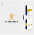 lamp light interior logo template free business vector image