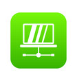 laptop icon digital green vector image vector image