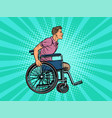 legless man disabled veteran in a wheelchair vector image