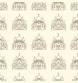 line orthodox church buildings seamless pattern vector image vector image