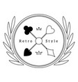 logo style retro outlines poker club vector image vector image