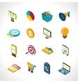 Marketing Icons Isometric vector image