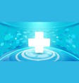 medical cross and technology digital background vector image