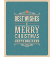 Merry Christmas postcard ornament vector image vector image