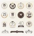 multiple years anniversary celebration logotype vector image