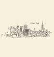 New York city engraving hand d vector image vector image