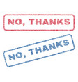 no thanks textile stamps vector image vector image