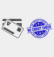 pixelated credit cards icon and grunge no vector image vector image