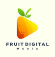 play fruit media logo vector image vector image