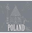 Poland landmarks Retro styled image vector image vector image