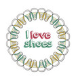 retro of logo for a shoe store vector image vector image