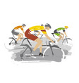 road cycling competitors vector image vector image