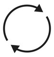 round circle arrow icon simple style vector image vector image