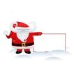 Santa Claus and a banner vector image vector image