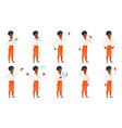 set of chief-cooker characters vector image vector image