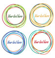 set of colorful abstract circles vector image vector image