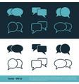 set speech bubble icon logo template design eps 10 vector image vector image