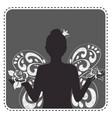 silhouette avatar girl princess vector image