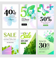 spring social media sale banners vector image vector image