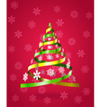 Stylized Christmas tree from ribbons vector image