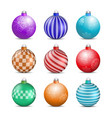 toys and decorations for the christmas tree vector image vector image