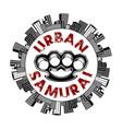 urban samurai 0008 vector image vector image