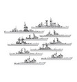 us cruisers vector image vector image