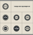 vintages auto logo badges set vector image