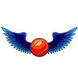 winged icon featuring tennis ball vector image