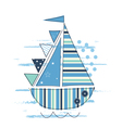 with sailing ship vector image vector image