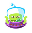 wrathful emotional allien cute cartoon monster vector image vector image