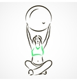 Yoga with fitball vector image vector image