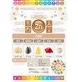 zinc mineral supplement rich food icons healthy vector image