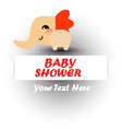 Cute baby shower with elephant vector image