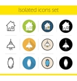 Household items icons vector image