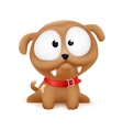 puppy character sitting vector image