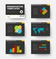 template for presentation slides 4 vector image