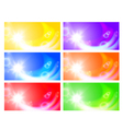 Set of horizontal sunny banners vector image