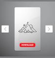 achievement flag mission mountain success line vector image