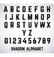 Alphabet shadow font vector image vector image